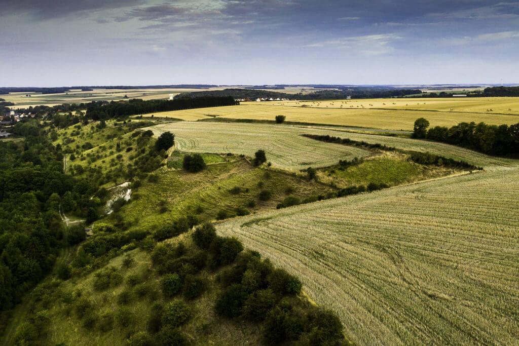 Photo prise par drone, Campagne Picarde
