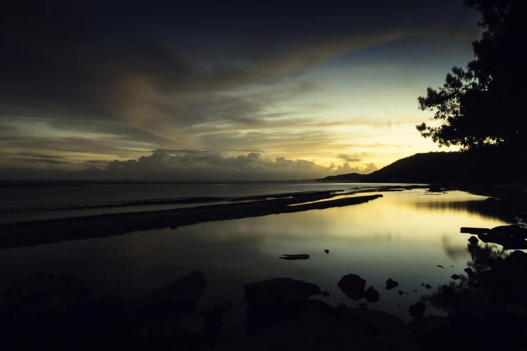 Paysage : Coucher de soleil, Guadeloupe