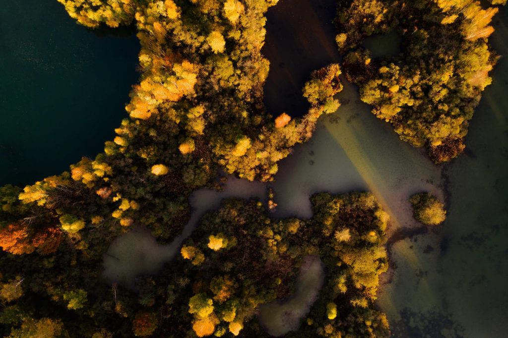 Photo prise par drone, Les Gravières